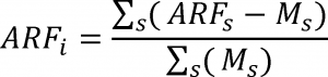 ARF formula